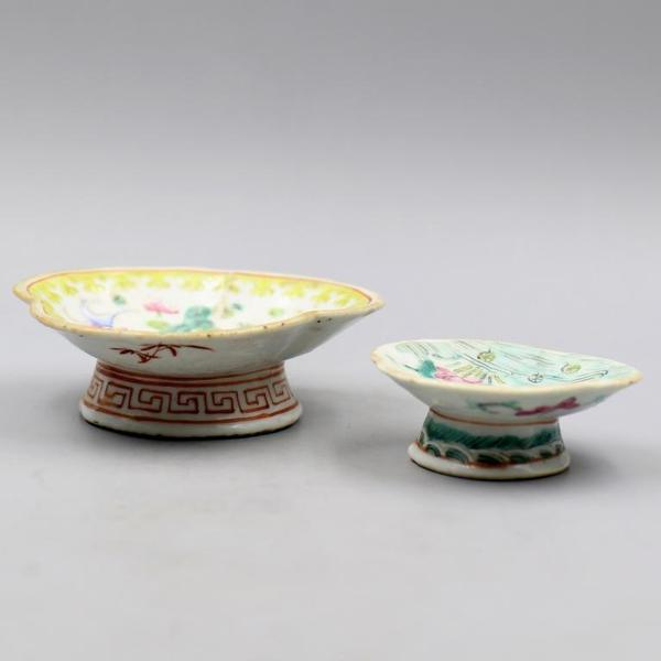 2 platos porcelana China s. XIX